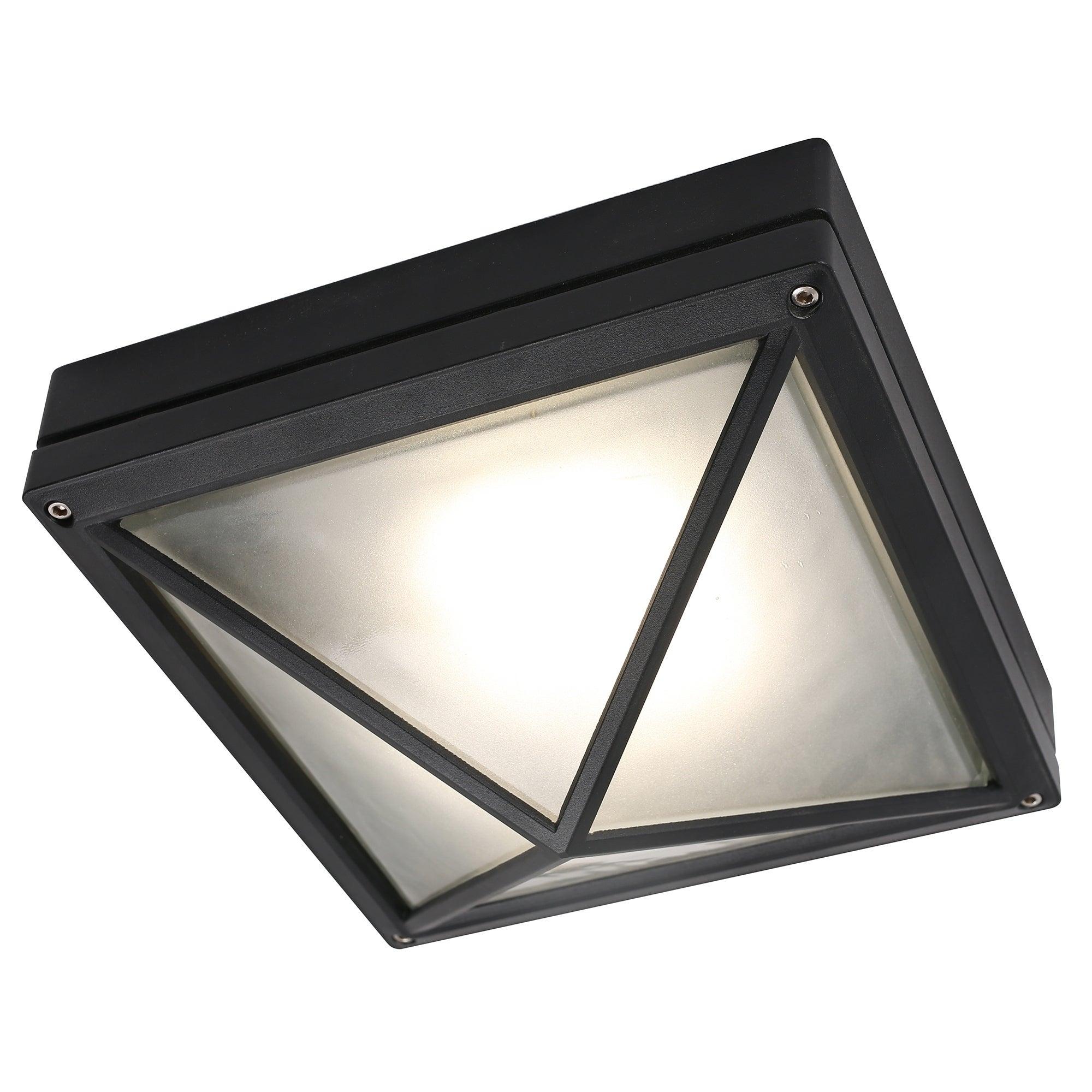 Led Flush Mount Ceiling Light In Black