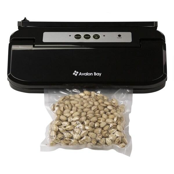 Avalon Bay Vacuum Sealer, Automatic Vacuum Sealing System with BPA-Free Starter Bags, Black, FoodSealer200B
