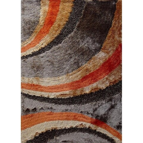 Area Rug 4x6 Abstract Orange - 4' x 5'4""