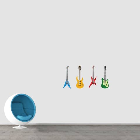 Electric Guitars Printed Wall Decals