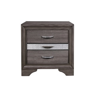 Silver Orchid Prince Grey Nightstand
