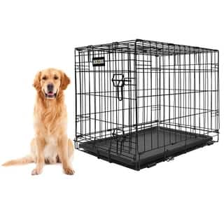 DOG for DOG Collapsible Metal Pet Crate with Removable Tray