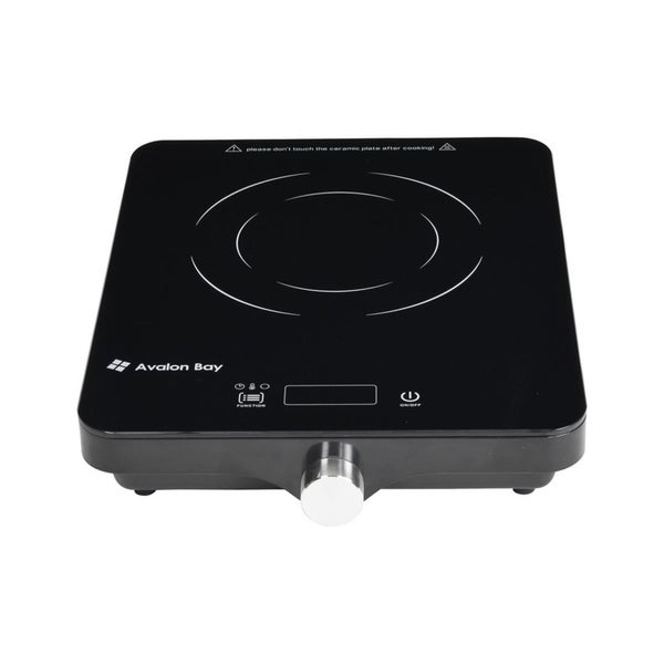 Avalon Bay Induction Cooktop 1800W Portable Induction Cooker Cooktop Countertop Burner, IC100B