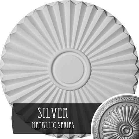 """19 3/4""""OD x 1 3/8""""P Shakuras Ceiling Medallion"""