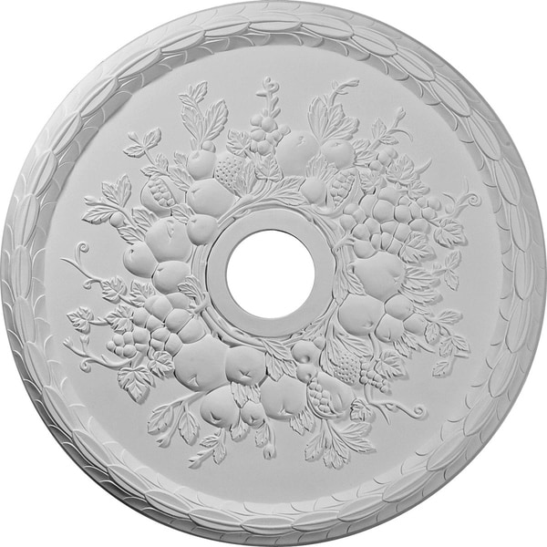 "22 5/8""OD x 3 5/8""ID x 5/8""P Grape Ceiling Medallion"