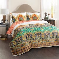 Lush Decor Bohemian Meadow 3 Piece Quilt Set