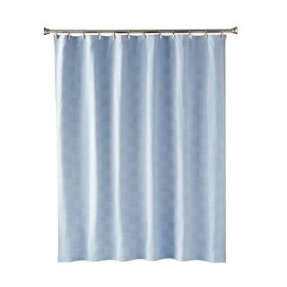SKL Home Large Basketweave Shower Curtain in Blue