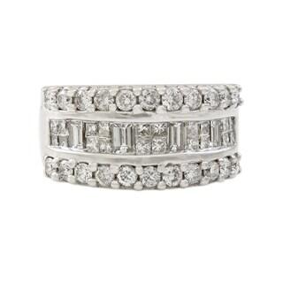 18K White Gold 1.6 CT Diamond Band Ring