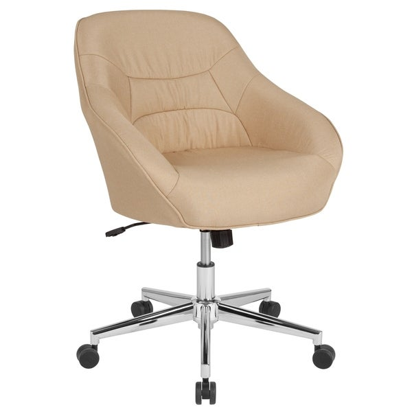 Home and Office Upholstered Mid-Back Bucket Style Chair