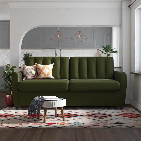 Shop Novogratz Brittany Sleeper Sofa with Memory Foam ...