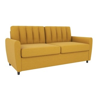 yellow sleeper sofa living room furniture find great furniture rh overstock com  yellow suede sleeper sofa