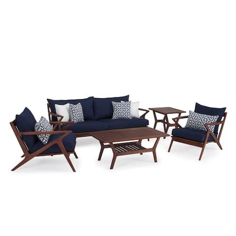 Vaughn 5pc Seating Set in Navy Blue by RST Brands