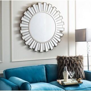 """Safavieh Balin Silver Sunburst 39-inch Round Decorative Mirror - 39.4"""" x 1.5"""" x 39.4"""""""