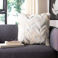 Safavieh Brea Metallic Cowhide Decorative Pillow