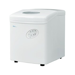 NewAir AI-100W White Portable Ice Maker with 28 lbs. Daily Capacity