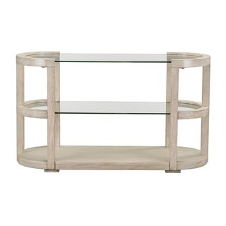 Standard Furniture Cleo White Wood/Glass Sofa Table
