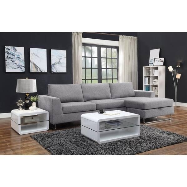 Prime Shop Linden Grey Woven Sectional Sofa With Reversible Uwap Interior Chair Design Uwaporg