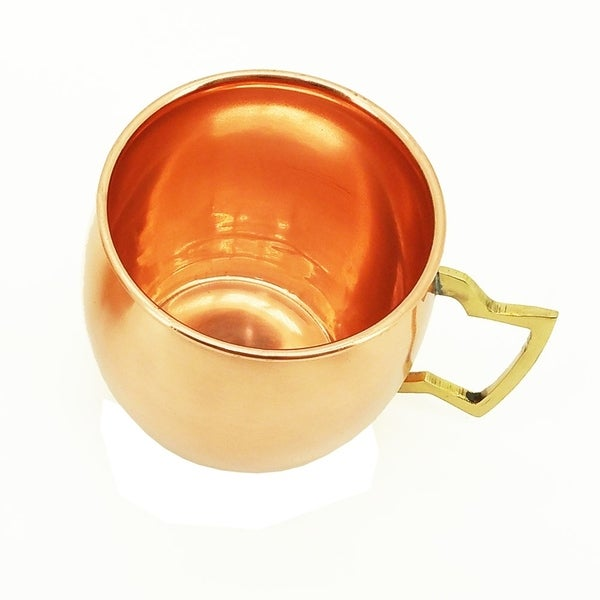 Set of 2 Modern Home Authentic 100/% Solid Copper Hammered Moscow Mule Mug Handmade in India