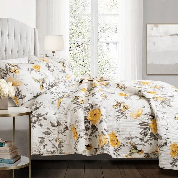 Lush Decor Penrose Floral 3 Piece Quilt Set