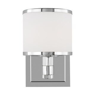Winter Park Steel 1-light Wall Sconce with Opal Etched Glass Shade