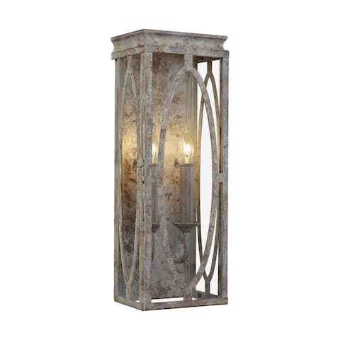 Patrice Deep Abyss Steel 2-light Wall Sconce