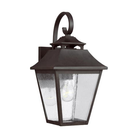 Galena Sable Stainless Steel 1-light Wall Lantern