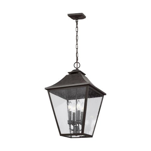Galena Sable Stainless Steel 4-light Hanging Lantern