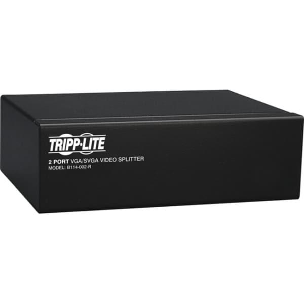 Tripp Lite 2-Port VGA / SVGA Video Splitter Signal Booster High Resol
