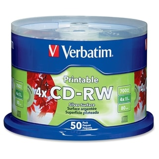 Verbatim CD-RW 700MB 2X-4X DataLifePlus Silver Inkjet Printable with