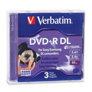 Verbatim 95313 DVD Recordable Media - DVD+R DL - 2.4x - 2.60 GB - 3 P