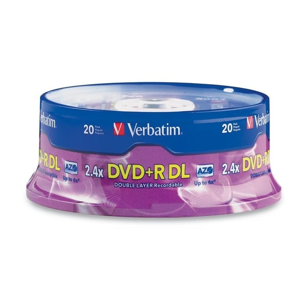 shop verbatim dvd r dl 8 5gb 8x with branded surface. Black Bedroom Furniture Sets. Home Design Ideas