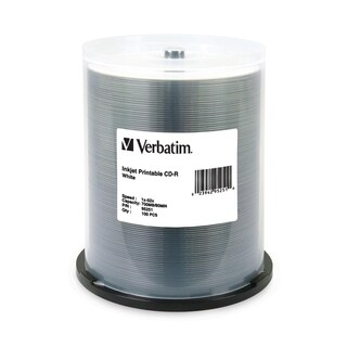 Verbatim CD-R 700MB 52X White Inkjet Printable - 100pk Spindle