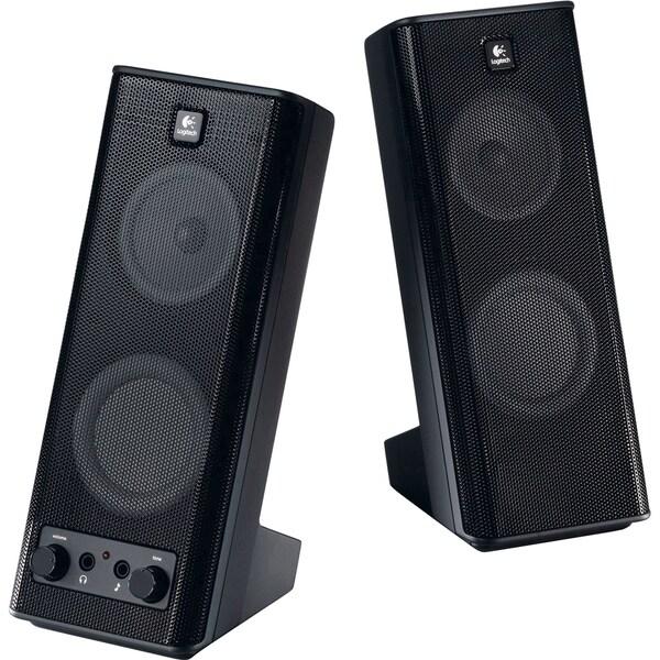 Logitech X-140 2.0 Speaker System - 5 W RMS - Black