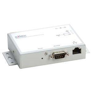 Silex Serial Device Server, Wired, RS232 DB9, 10/100, US Power Supply