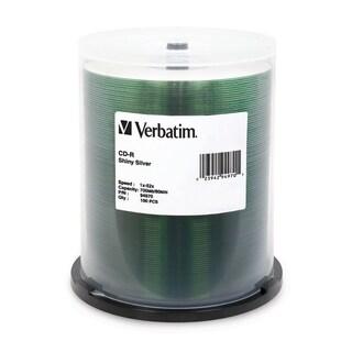 Verbatim CD-R 700MB 52X Shiny Silver Silk Screen Printable - 100pk Sp