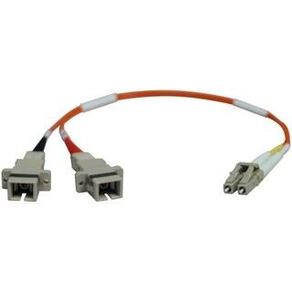 Tripp Lite 0.3M Duplex Multimode Fiber Optic 50/125 Adapter LC/SC M/F