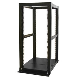 StarTech.com 25U Adjustable Depth 4 Post Open Frame Server Rack Cabin