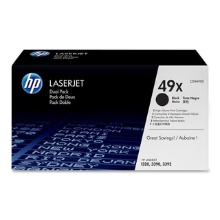 HP 49X (Q5949XD) 2-pack High Yield Black Original LaserJet Toner Cart