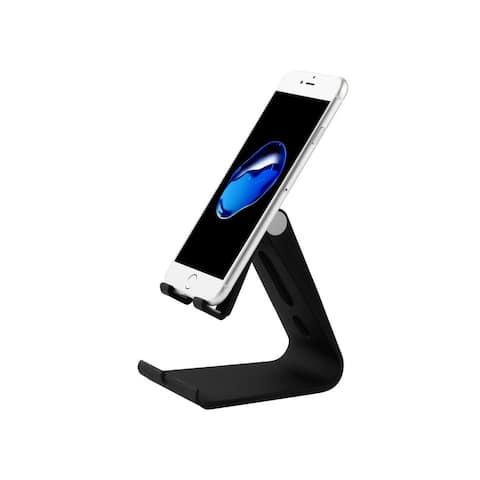 Insten Adjustable Multi-angle Desktop Foldable Stand Holder for Cell Phone Tablet Black