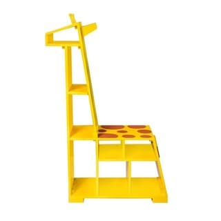 Teamson Kids - Zoo Kingdom Girafffe Bookshelf - Yellow / Orange