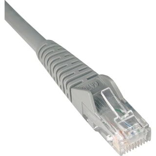 Tripp Lite 50ft Cat6 Gigabit Snagless Molded Patch Cable RJ45 M/M Gra