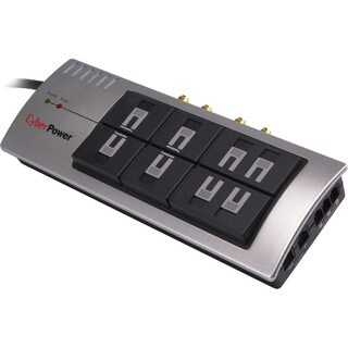 CyberPower Office 895 3600J 8-Outlet Surge Suppressor