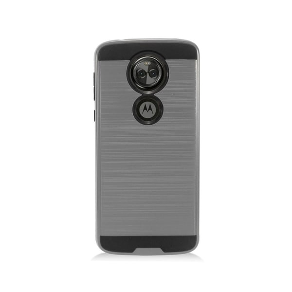 88809b7008da Insten For Motorola Moto E5 Plus E5 Supra Gray Black Hard TPU Hybrid  Brushed Case