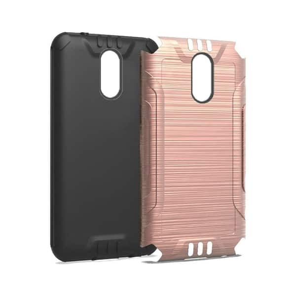 Shop Insten For LG Stylo 4/Plus Rose Gold Black Hard Plastic