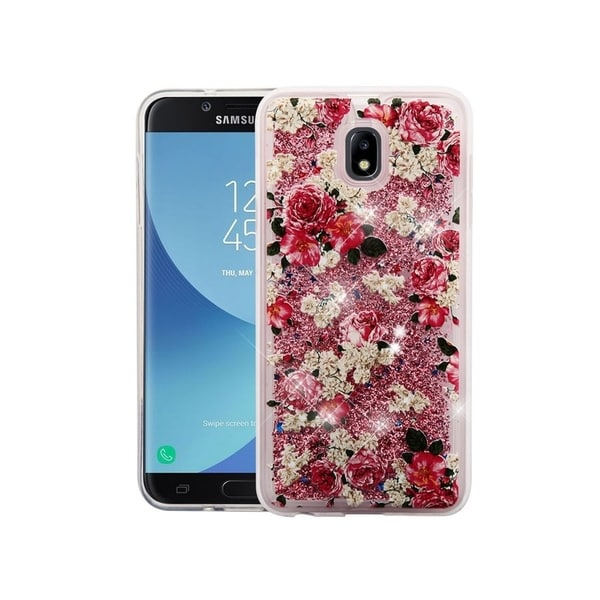new product f2107 b9add Insten For Samsung Galaxy J7 (2018)/J7 Refine/J7 V Multi-Color European  Rose Hard Case