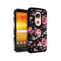 Insten Multi-Color Roses Astronoot Hard Snap-on Dual Layer Hybrid Case Cover For Motorola Moto E5 Plus/ E5 Supra