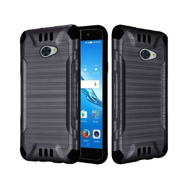 Insten For Huawei Ascend XT2 Slim Armor Hybrid Brushed PC/TPU Rubber Case  Cover Black