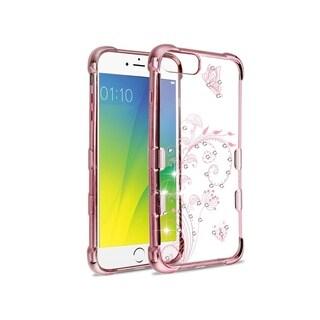 Insten For Apple iPhone 6 Plus/6s Plus/7 Plus/8 Plus Rose Gold Love Heart Hard Case