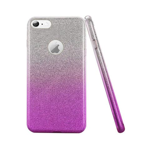 Insten For Apple iPhone 6 Plus/6s Plus Purple Two Tone Hard TPU Glitter Case Cover