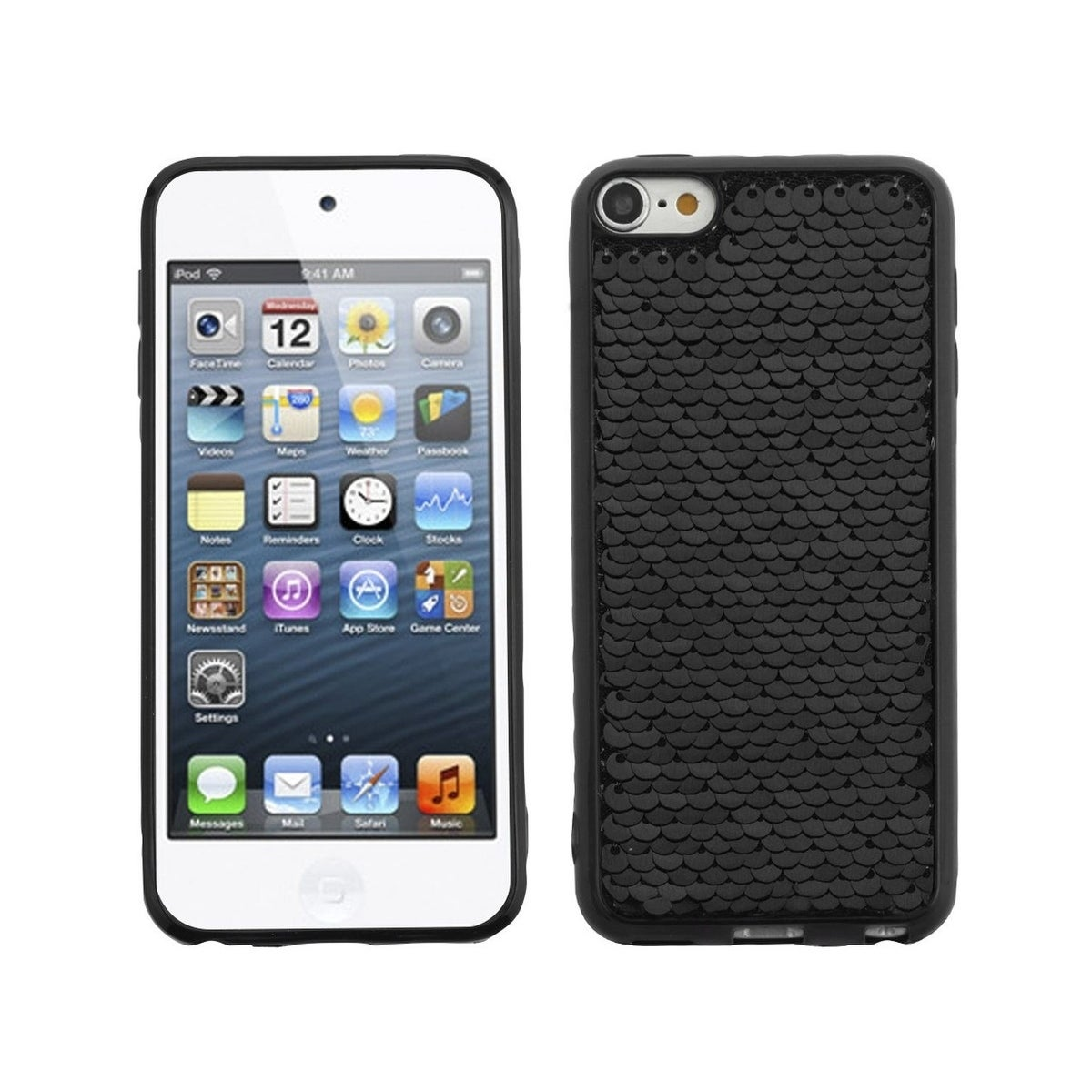 reputable site 75d4c 5626c Insten For Apple iPod Touch 5th Gen/6th Gen Black Silver Sparkling Sequin  TPU Case